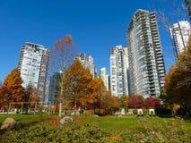 Autumn modern city architecture landscape Vancouver royalty free stock image