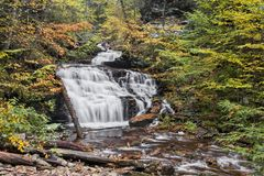 Autumn at Mohican Falls - Ricketts Glen, Pennsylvania Royalty Free Stock Images