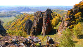 Autumn in Mongolia. Autumn, rolling mountains of Mongolia.Cool wind Royalty Free Stock Photography