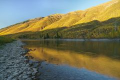 A Montana Fall. Autumn, Montana Glacier National Park, United States Royalty Free Stock Photography
