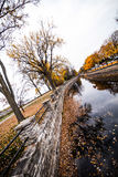 Autumn Montreal Lachine Canal Landscape. From the Bridge royalty free stock images