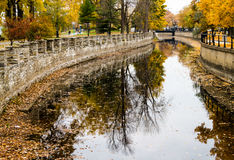 Autumn Montreal Lachine Canal Landscape Stock Photography