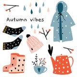 Autumn mood. Fall season clothing vector illustration