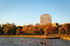 Autumn mood in Helsinki. Which is one of the cleanest and modern cities in the world. Beautiful trails along the rivers and bays are easily accessible stock photo