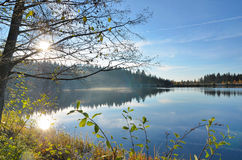 Autumn mood at a lake Stock Photo