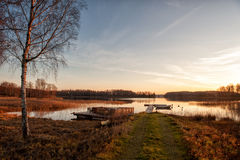 Autumn morning stock images