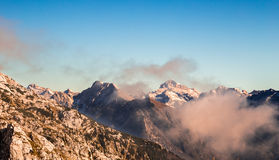 Autumn morning in the alps Royalty Free Stock Photo