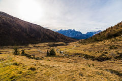 Autumn morning in the alps Stock Photos