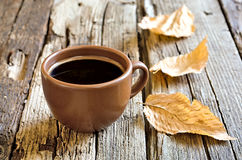 Autumn morning coffee cup Royalty Free Stock Photography