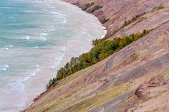 Autumn Morning em dunas grandes da zibelina fotografia de stock
