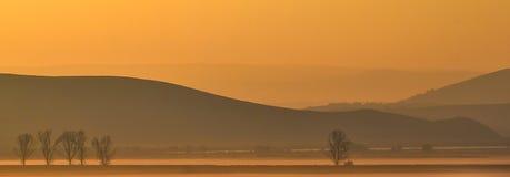 Autumn morning fog Stock Image