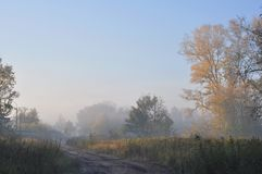 Autumn morning, Moscow suburbs Royalty Free Stock Images