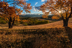 Autumn morning in the mountains. Klisura, Bulgaria Royalty Free Stock Photography