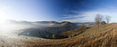 Autumn morning in the mountains Stock Image
