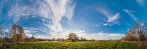 Autumn morning panorama. Royalty Free Stock Photo