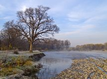 Autumn morning about the river Stock Photo