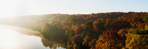 Autumn morning at Starved Rock. Royalty Free Stock Image