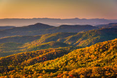 Autumn morning view from Beacon Heights, along the Blue Ridge Pa Stock Image