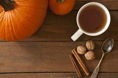 Autumn Morning Warm Set Imágenes de archivo libres de regalías
