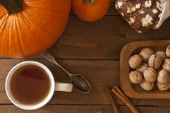 Autumn Morning Warm Set Stock Photos
