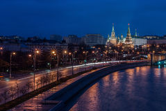 Autumn Moscow-avond Royalty-vrije Stock Fotografie
