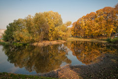 Autumn in  Moscow parks, Russia Royalty Free Stock Images