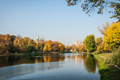 Autumn in  Moscow parks, Russia Royalty Free Stock Photos