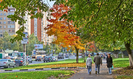 Autumn in Moscow Streets Royalty Free Stock Images