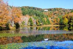 Autumn Moses Cone Memorial Park North Carolina. Autumn at Moses Cone Memorial Park near Blowing Rock, North Carolina with distant view of Flat Top Manor Stock Photos