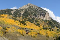 Autumn at Mount Crested Butte Stock Photo