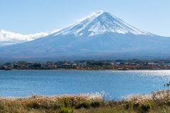 Mount Fuji in Autumn Color, Japan. Autumn in Mount Fuji, Japan - Lake Kawaguchiko is one of the best places in Japan to enjoy scenery of Mount Fuji royalty free stock photos