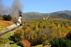 Autumn at Mount Washington. Autumn has come to Mount Washington, New Hampshire. The cog railway takes visitors to the top and the NOAA weather station Royalty Free Stock Image