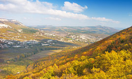 Autumn mountain Stock Photos