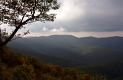 Autumn in the mountain. Shenandoah National Park. Virginia stock images