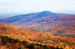 Autumn mountain. Panoramic view of autumn mountain-minnewaska state park, new york Royalty Free Stock Photography