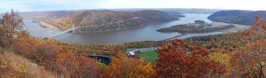 Autumn Mountain aerial view panorama Royalty Free Stock Photo
