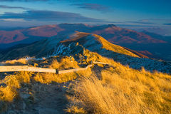 Autumn mountain in Bieszczady Stock Photos
