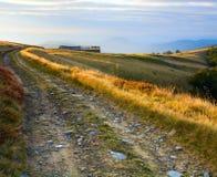 Autumn mountain farm view Stock Image