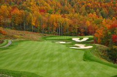 Autumn Mountain Golf Course Royalty Free Stock Photos