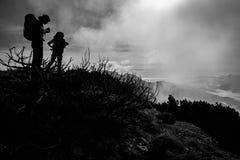 Autumn mountain hike Royalty Free Stock Photo