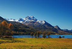 Autumn mountain lake Stock Photo
