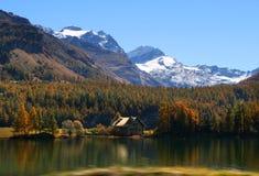 Autumn mountain lake royalty free stock photography