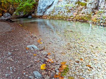 Autumn mountain lake Stock Photography