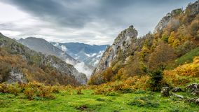 Autumn mountain landscape. In Asturias, northern Spain Royalty Free Stock Image