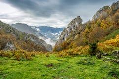 Autumn mountain landscape. In Asturias, northern Spain Stock Image
