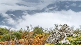 Autumn mountain landscape. In Asturias, northern Spain Royalty Free Stock Images