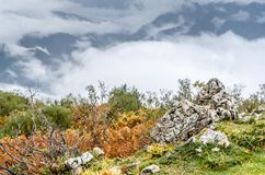 Autumn mountain landscape. In Asturias, northern Spain Royalty Free Stock Photos