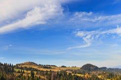 Autumn mountain landscape Stock Image