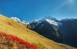 Autumn mountain landscape in the Caucasus mountains, Royalty Free Stock Image