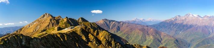 Autumn mountain landscape, Krasnaya Polyana, Sochi Royalty Free Stock Photography